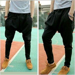 Pants - Black Jogger with Skinny Leg & Pockets Streetwear